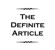The Definite Article Photographic Print
