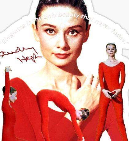 Audrey and elegance Sticker