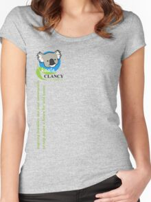 Koala Clancy Foundation - green text Women's Fitted Scoop T-Shirt
