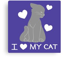 I love my cat Canvas Print