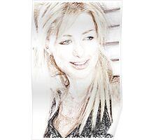 Paris Hilton - Colored Pencil Art Poster