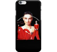 Audrey and elegance iPhone Case/Skin