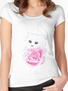 Inside my little heart Women's Fitted Scoop T-Shirt