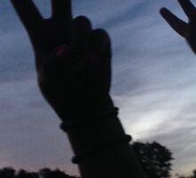 Peace in the Sunrise Sticker