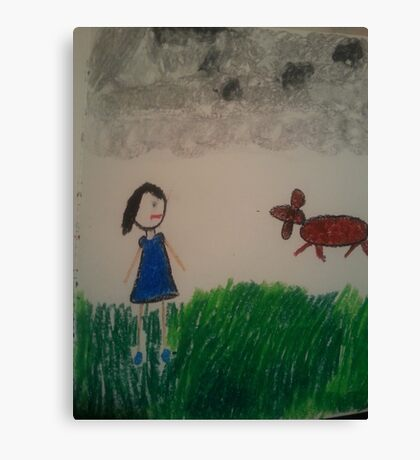 oil pastel drawing Canvas Print