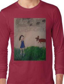 oil pastel drawing Long Sleeve T-Shirt