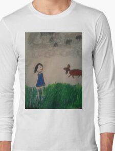 oil pastel drawing Long Sleeve T-Shirt