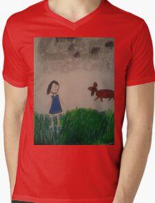 oil pastel drawing Mens V-Neck T-Shirt