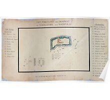 Civil War Maps 0392 Fort Pennsylvania and encampment at Tennallytown near Washington DC Poster