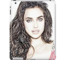 Irina Shayk - Colored Pencil Art iPad Case/Skin