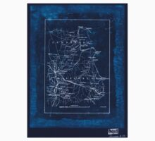 Civil War Maps 2038 Map of part of the counties of McNairy and Hardin Tennessee and Alcorn and Tishomingo Mississippi Inverted Baby Tee