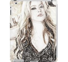 Shakira Morena - Colored Pencil Art iPad Case/Skin