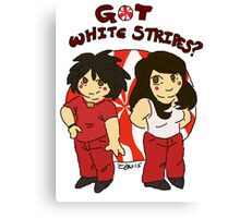 got white stripes? Canvas Print