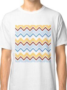 Chevron Zigzag Brown Yellow Blue Simple Pattern Classic T-Shirt