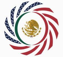 Mexican American Multinational Patriot Flag Series 1.0 by Carbon-Fibre Media