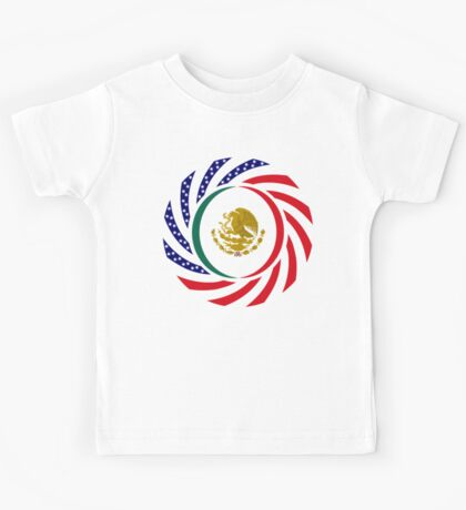 Mexican American Multinational Patriot Flag Series 1.0 Kids Tee