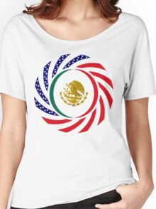 Mexican American Multinational Patriot Flag Series 1.0 Women's Relaxed Fit T-Shirt