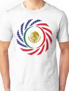 Mexican American Multinational Patriot Flag Series 1.0 Unisex T-Shirt
