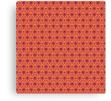 The Haunted Mansion Wallpaper - Orange/Red Canvas Print