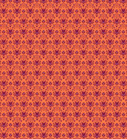 The Haunted Mansion Wallpaper - Orange/Red Sticker