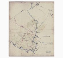 Civil War Maps 0382 Fords on Occoquan and Bull Run Northern Virginia Kids Tee