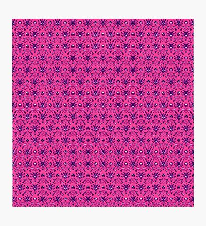 The Haunted Mansion Wallpaper - Pink/Violet Photographic Print