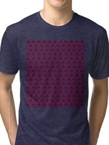 THEE Haunted Mansion Wallpaper - Deep Purple Tri-blend T-Shirt
