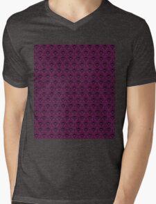 THEE Haunted Mansion Wallpaper - Deep Purple Mens V-Neck T-Shirt
