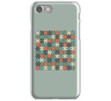 Jigsaw Puzzle Pattern in Vintage Color Palette iPhone Case/Skin