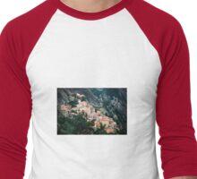 Hillside Town View - Castelmezzano, Italy Men's Baseball ¾ T-Shirt