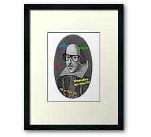 Hipster Shakespeare Framed Print