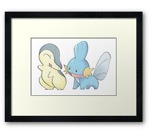 Cyndaquil and Mudkip Framed Print
