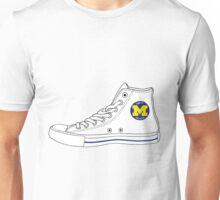 Michigan Converse - White Unisex T-Shirt