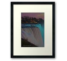 American Falls At Night   Niagara Falls, New York Framed Print
