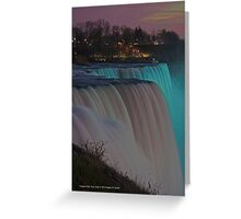 American Falls At Night | Niagara Falls, New York Greeting Card