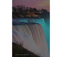 American Falls At Night | Niagara Falls, New York Photographic Print
