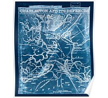 Civil War Maps 0249 Charleston and its defences Inverted Poster
