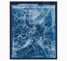 Civil War Maps 0249 Charleston and its defences Inverted One Piece - Short Sleeve