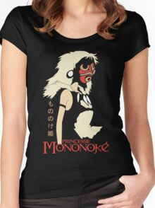 Princess Mononoke Hime, Anime Women's Fitted Scoop T-Shirt
