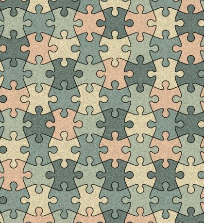 Jigsaw Puzzle Pattern in Calm Color Palette Sticker