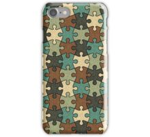 Jigsaw Puzzle Seamless Pattern in Nature Color Palette iPhone Case/Skin