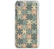 Jigsaw Puzzle Seamless Pattern in Calm Color Palette iPhone Case/Skin