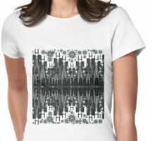 Gun-Scape with Gun Flakes Womens Fitted T-Shirt
