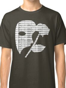 Phantom Music Sheet Classic T-Shirt