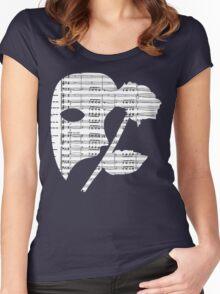 Phantom Music Sheet Women's Fitted Scoop T-Shirt