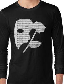 Phantom Music Sheet Long Sleeve T-Shirt