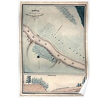 Civil War Maps 1676 Sketch showing the position of Cap FB Schaeffer's comd on July the 21st 1861 Poster