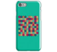 Jigsaw Puzzle Pattern in Festive Color Palette iPhone Case/Skin