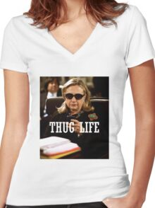 Throwback - Hillary Clinton Women's Fitted V-Neck T-Shirt