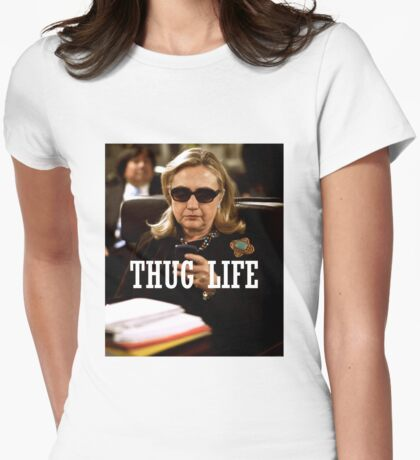Throwback - Hillary Clinton Womens Fitted T-Shirt